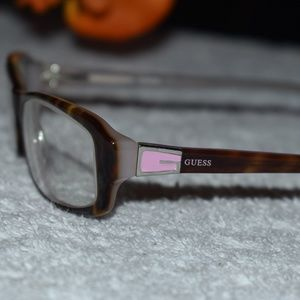 Vintage 90s Guess Rx Glasses Brown Tortoise/Pink